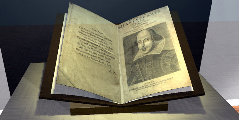 The Second Folio open at the title page