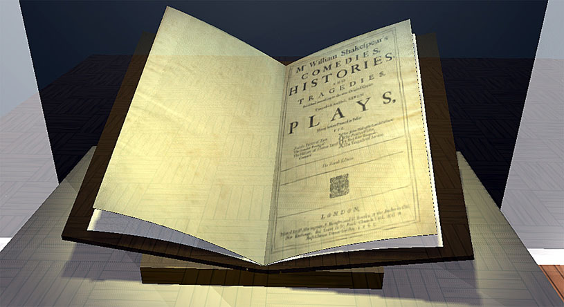 The Fourth Folio open at the title page