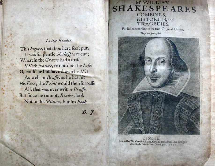 The title page of the Second Folio