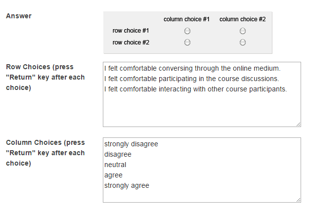 Enter Answer Options.