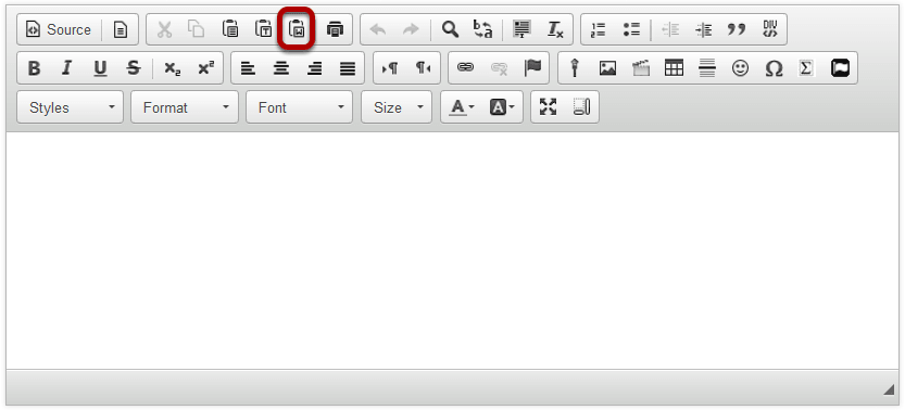 How do I paste text from a Microsoft Word document to a text box?