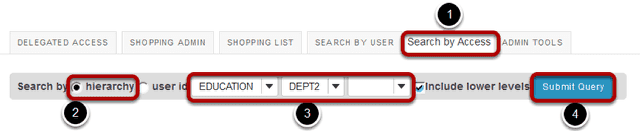 How do I search users in Delegated Access?